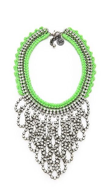 Venessa Arizaga Green Lightning Necklace