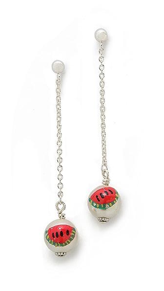 Venessa Arizaga Wild Watermelon Earrings