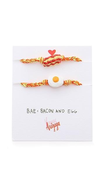 Venessa Arizaga Bacon + Eggs Friendship Bracelet Set