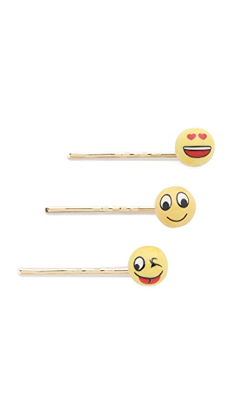 Venessa Arizaga Emoji Bobby Pin Set