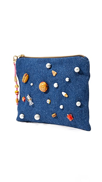 Venessa Arizaga Snack Attack Clutch Bag