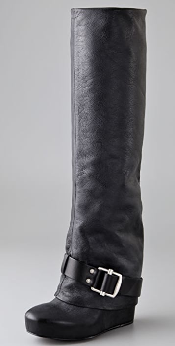 Vera Wang Trudy Long Cuff Boots with Buckle