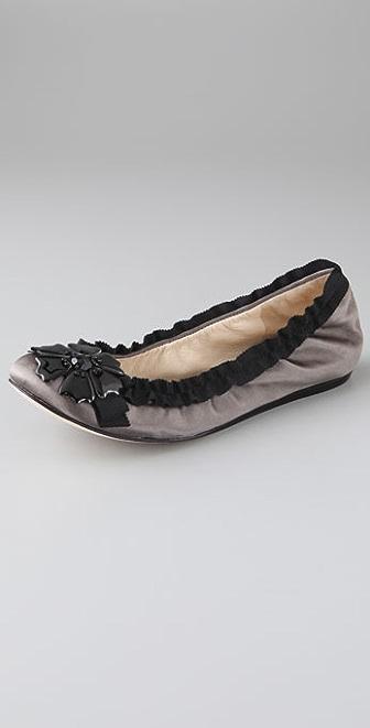Vera Wang Lynette Ruffle Ballet Flats