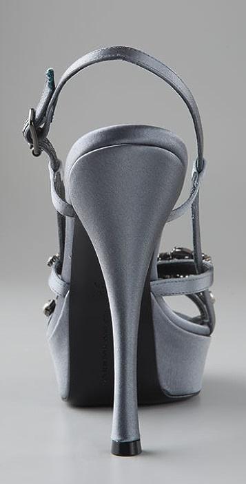 Vera Wang Susie Platform Sandals with Rhinestones