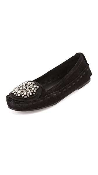 Vera Wang Indigo Flats with Lace Detailing