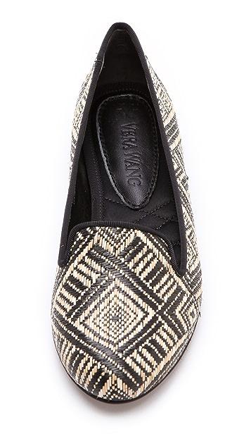 Vera Wang Hurley Basket Weave Flats