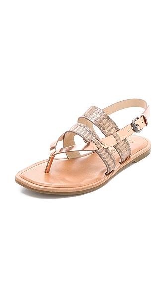 Vera Wang Annie Metallic Sandals