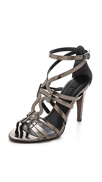Vera Wang Haru Mirror Strappy Sandals