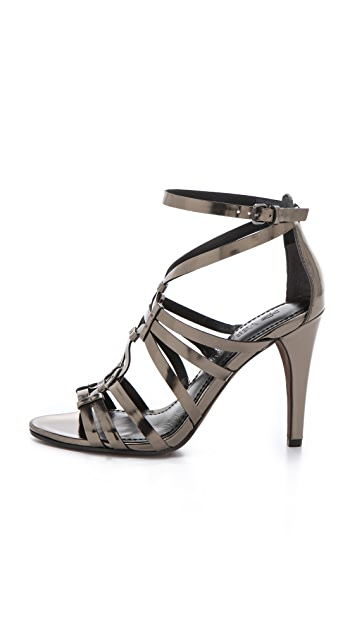 Vera Wang Haru Mirror Strappy Sandals