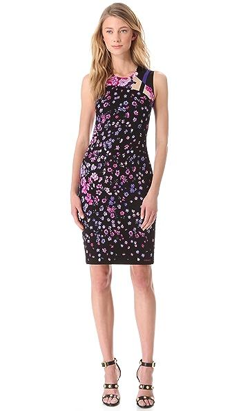 Versace Floral Devore Dress
