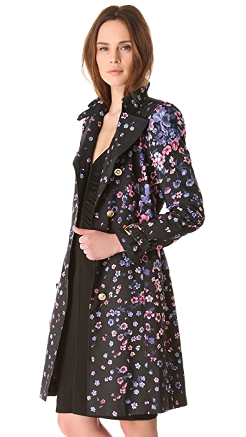 Versace Floral Trench Coat