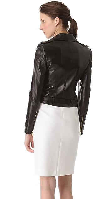 Versace Black Leather Jacket