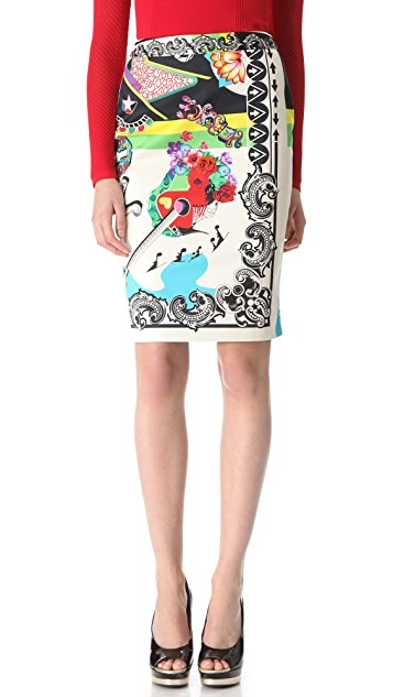 Versace Music Pencil Skirt