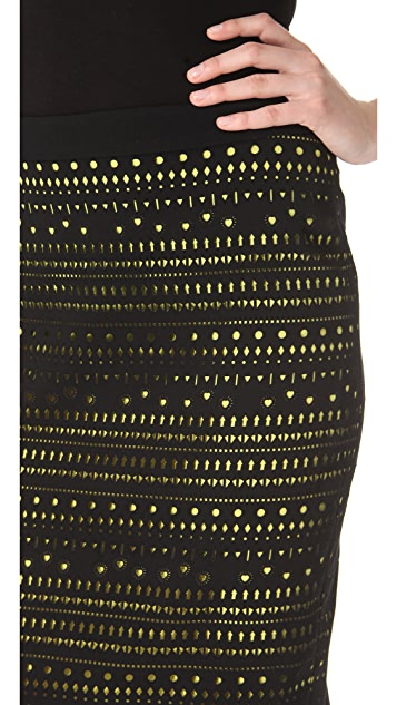 Versace Punched Pencil Skirt