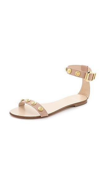 Versace Nude Flat Sandals