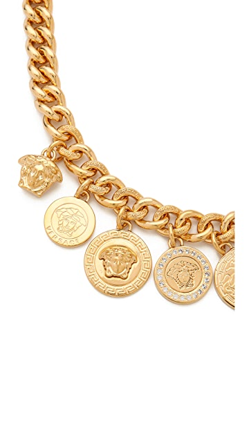 Versace Medusa Coin Necklace