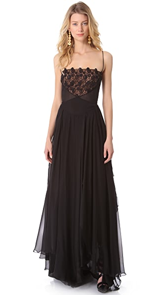 Versace Sleeveless Gown with Embroidery