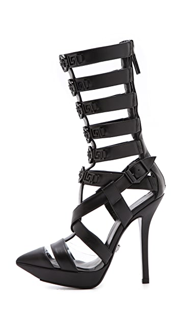 Versace Caged Stiletto Heels