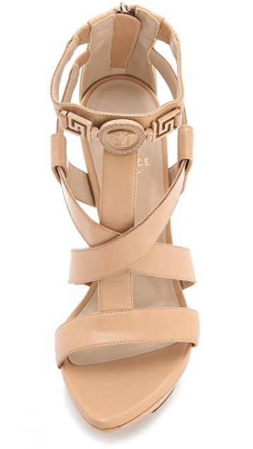 Versace Strapped Back Zip Sandals