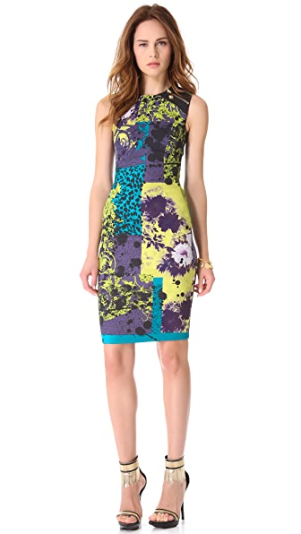 Versace Printed Sleeveless Dress