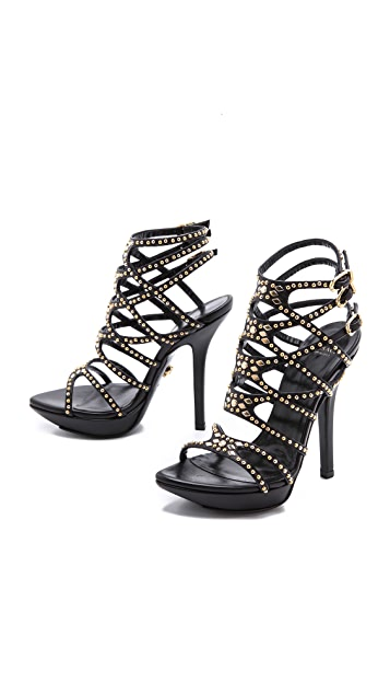 Versace Studded Strappy Sandals