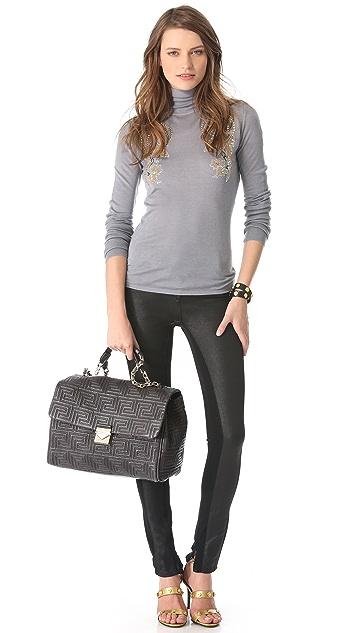 Versace Leather Quilted Shoulder Bag
