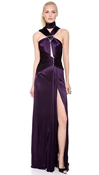 Versace Spike Draped Gown