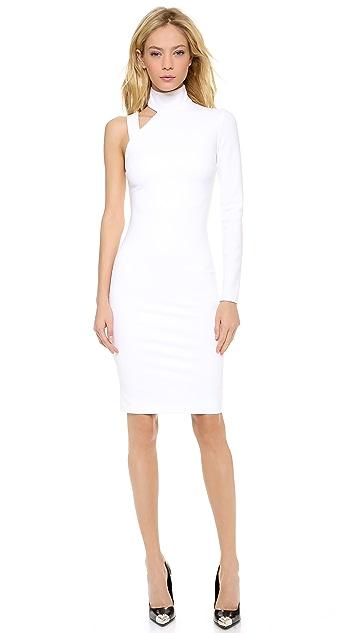 Versace One Sleeve Slash Dress