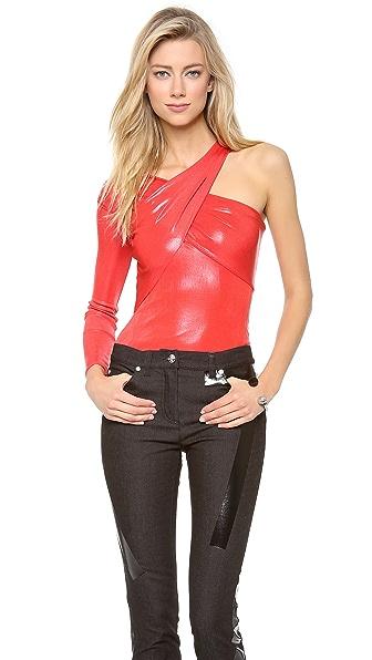 Versace Asymmetrical Wrap Top