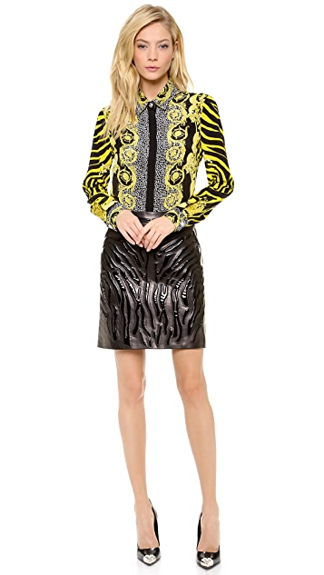Versace Long Sleeve Paisley Blouse