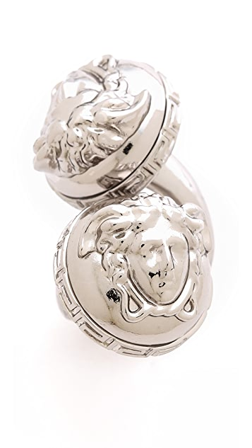 Versace Double Medusa Head Wrap Ring