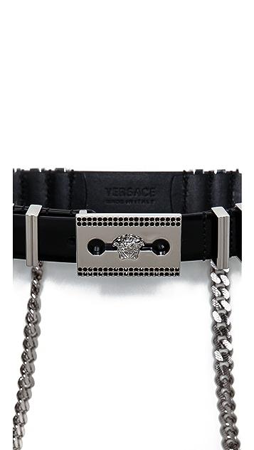 Versace Leather Medusa Belt
