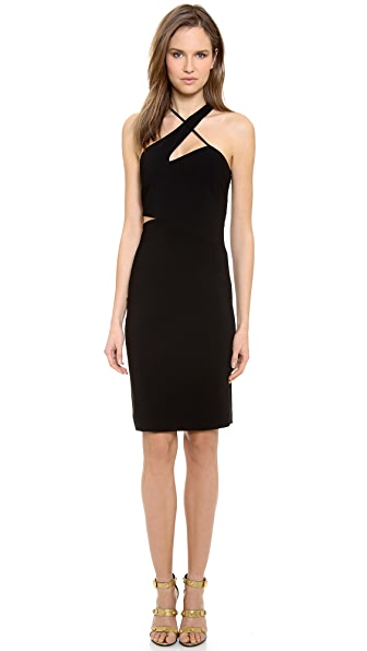 Versace Asymmetrical Cocktail Dress