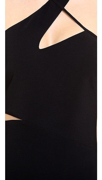 Versace Asymmetrical Cocktail Dress