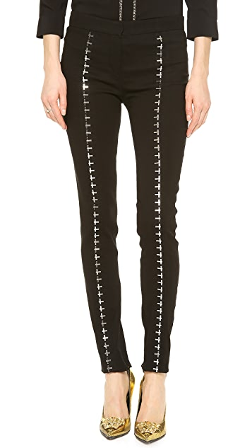 Versace Hook & Eye Seamed Pants