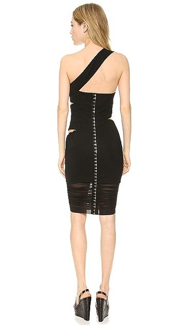 Versace Slash One Shoulder Dress