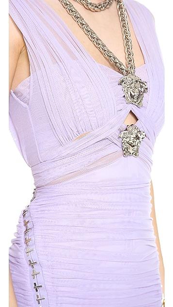 Versace Criss Cross Medusa Dress
