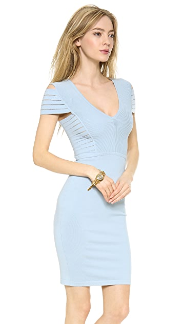 Versace Banded Shoulder Knit Dress