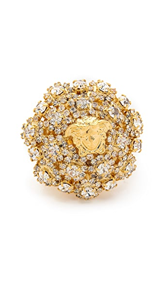 Versace Crystal Encrusted Ring