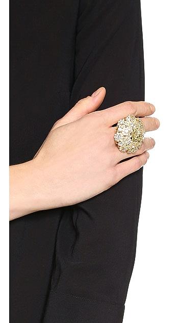 Versace Crystal Encrusted Ring