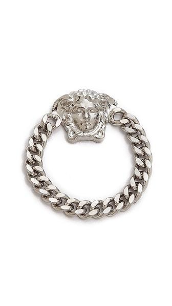 Versace Tiny Medusa Chain Ring