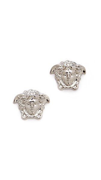 Versace Silver Medium Medusa Head Earring