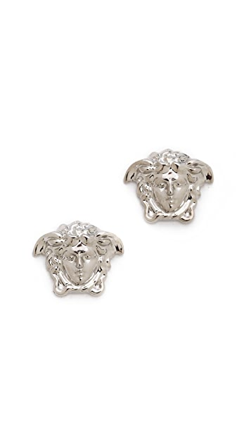 Versace Silver Medium Medusa Head Earring