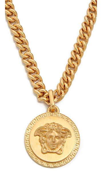Versace Large Medusa Head on Small Gold Chain