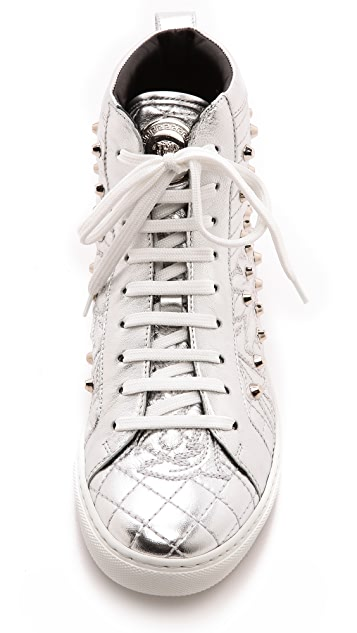 Versace Quilted Leather Sneakers