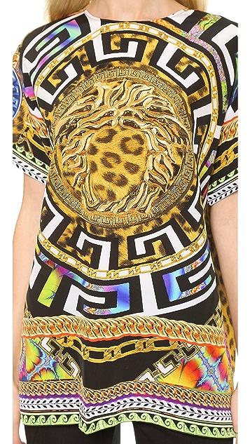 Versace Printed Silk Tee