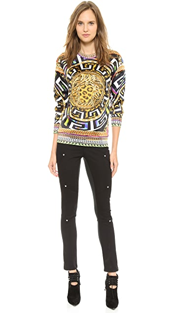 Versace Printed Long Sleeve Top