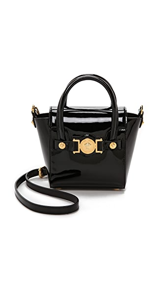 Versace Patent Leather Cross Body Bag