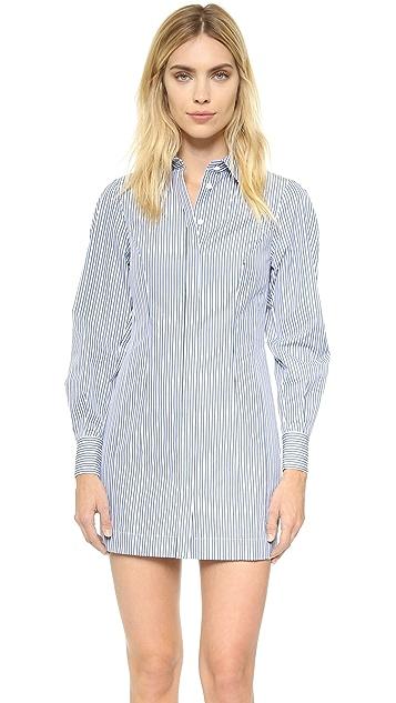 Versace Pinstripe Shirtdress