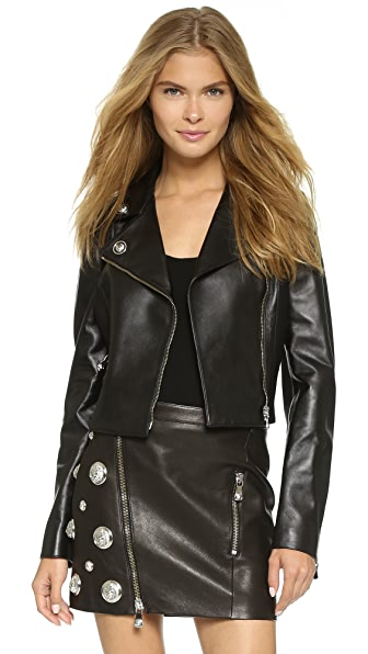 Versus Moto Jacket with Leather Trim